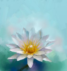 http://www.dreamstime.com/stock-photography-lotus-oil-painting-blue-space-background-image41888202